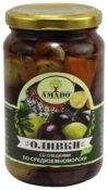 Оливки Amado с/к со специями по-средиземноморски, ст/б 350гр.