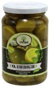 Оливки Amado с лимоном ст/б 350гр.